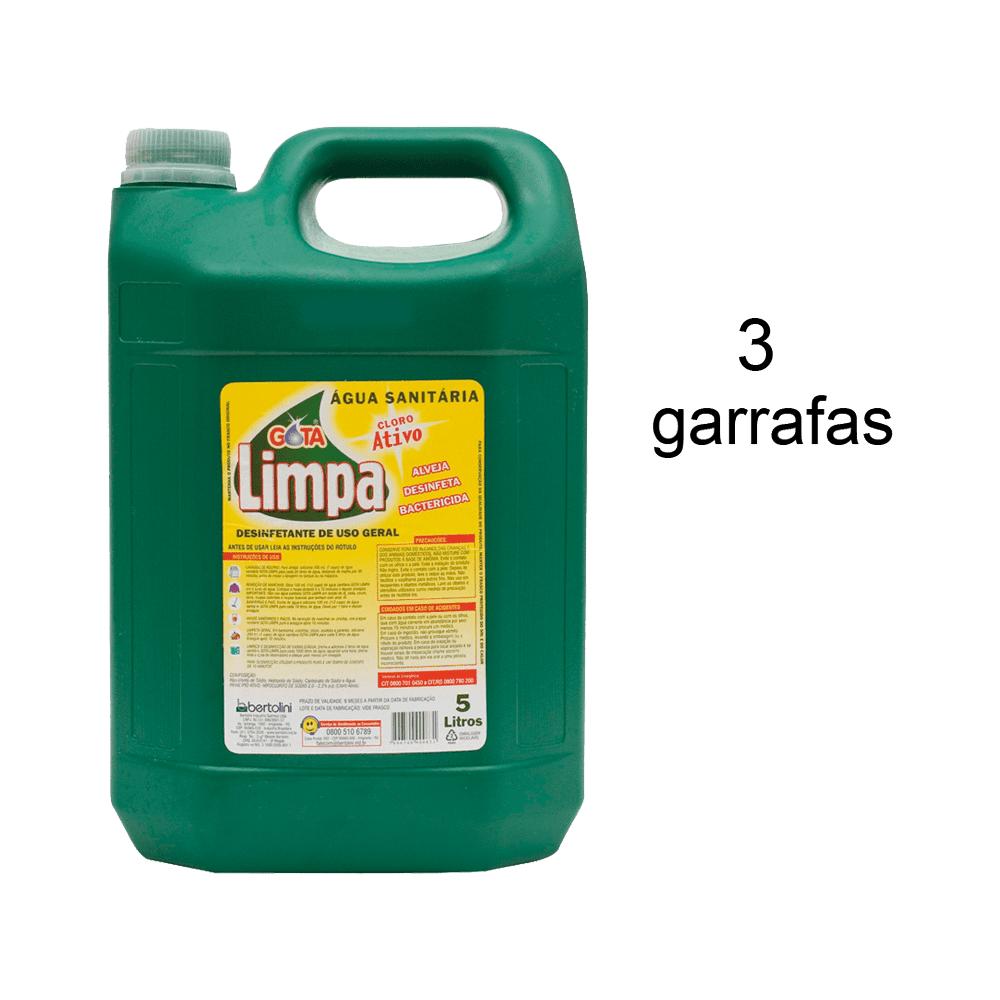 Água Sanitária 5L 3 und Gota Limpa