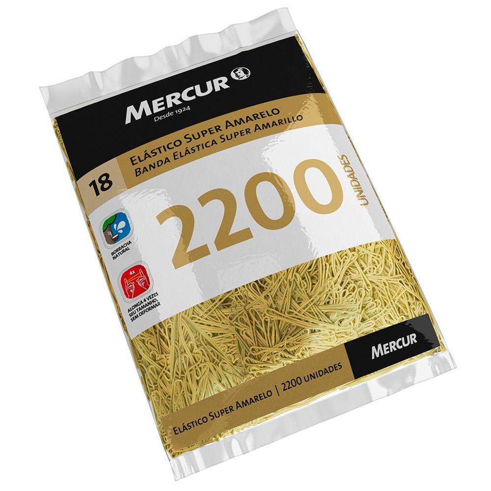 Elástico Nº18 Super Amarelo Pacote com 2200 und Mercur
