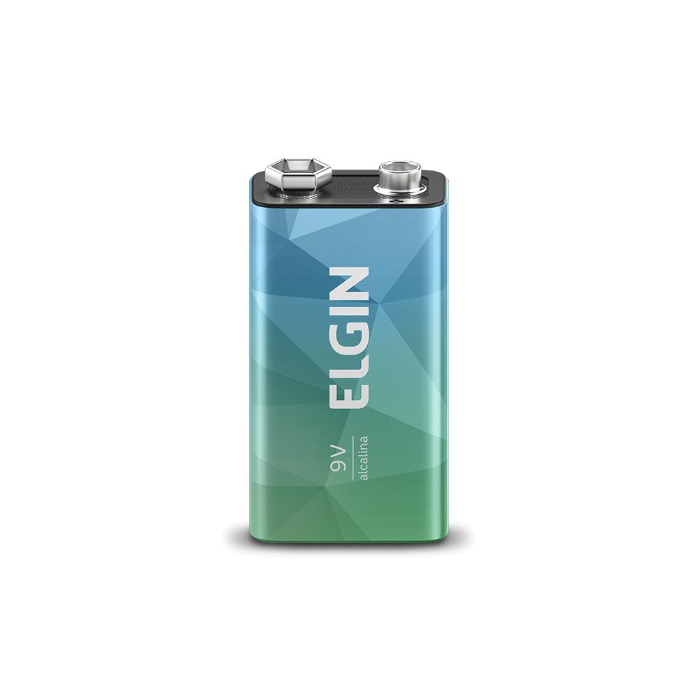 Bateria Alcalina 9V Elgin