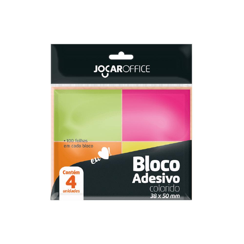 Bloco Adesivo Colorido 38 x 50mm Jocar Office