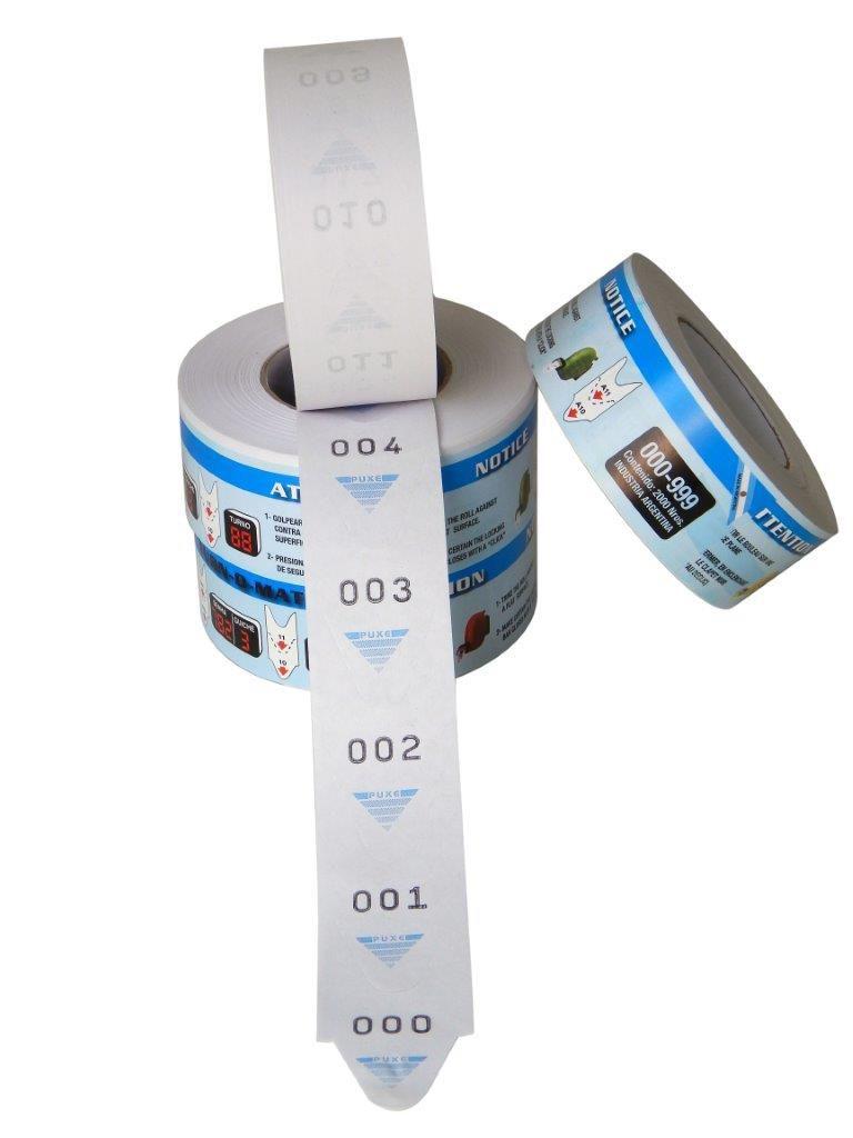 Bobinas de Senha 3 Dígitos Azul Turn-O-Matic 5 Und