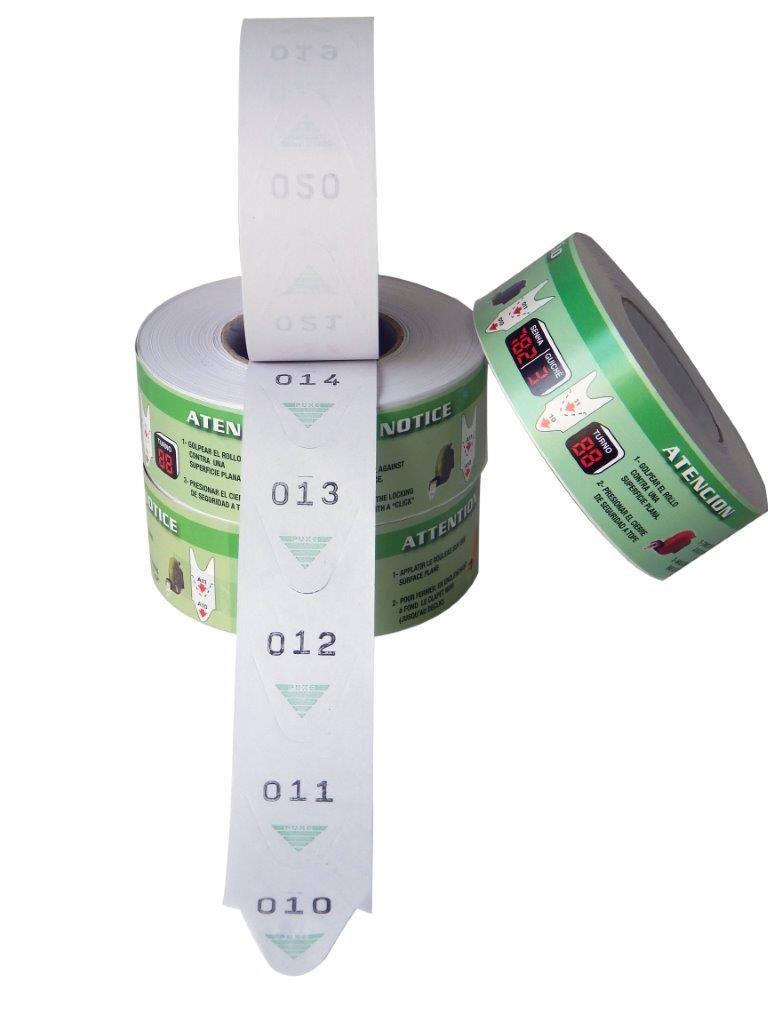 Bobinas de Senha 3 Dígitos Verde Turn-O-Matic 5 Und