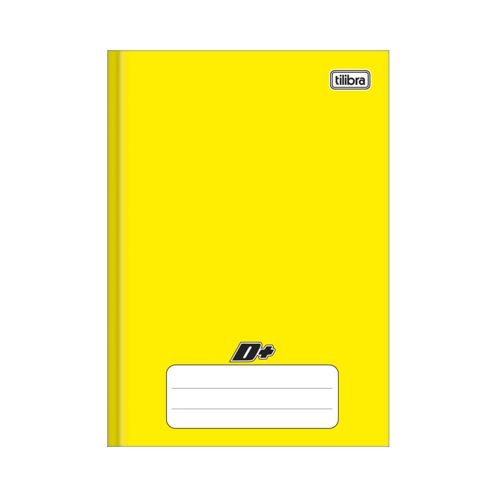 Caderno Brochura Capa Dura 1/4 D+ Amarelo 96 Folhas Tilibra
