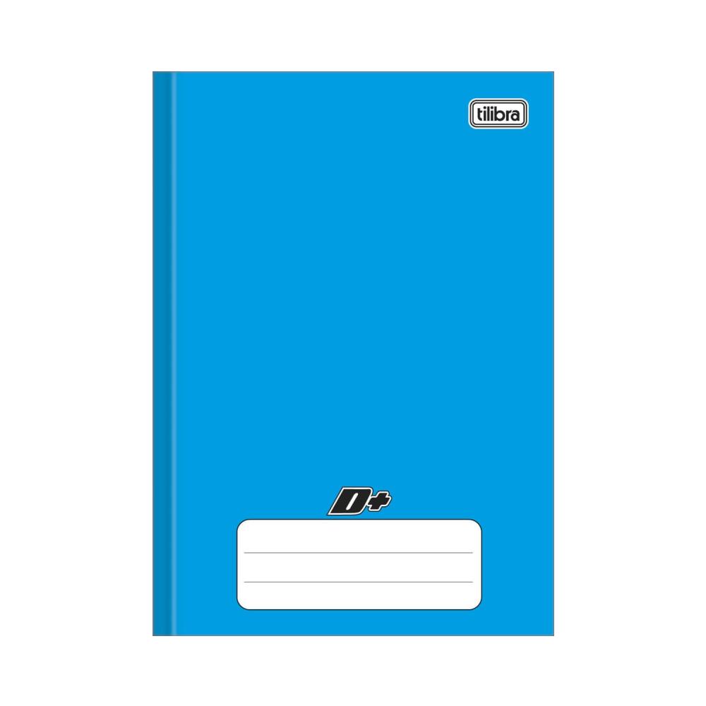Caderno Brochura Capa Dura 1/4 D+ Azul 96 Folhas Tilibra