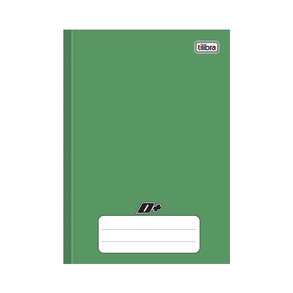 Caderno Brochura Capa Dura 1/4 D+ Verde 96 Folhas Tilibra
