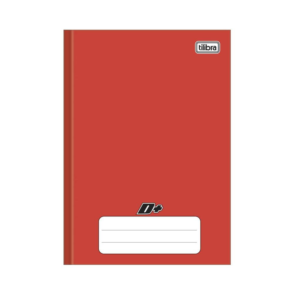Caderno Brochura Capa Dura 1/4 D+ Vermelho 96 Folhas Tilibra
