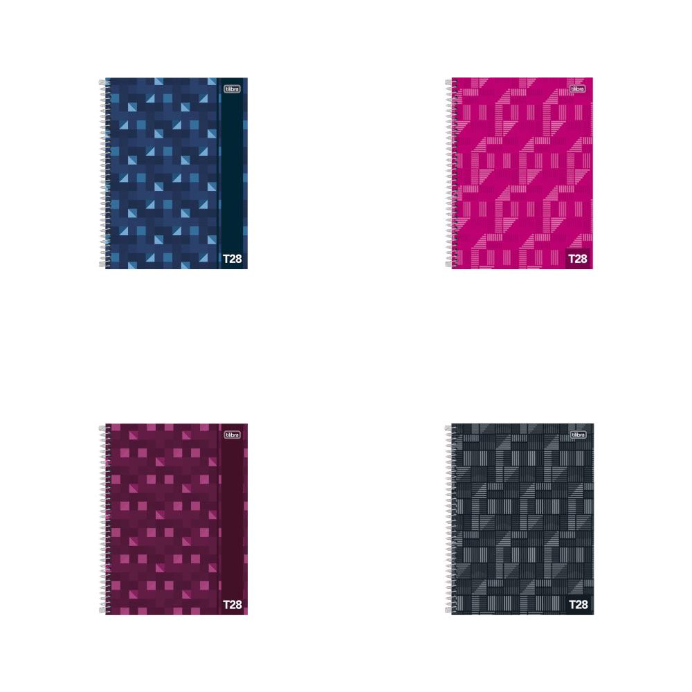 Caderno Espiral Capa Dura Universitário 10 Matérias T28 200 Folhas Tilibra