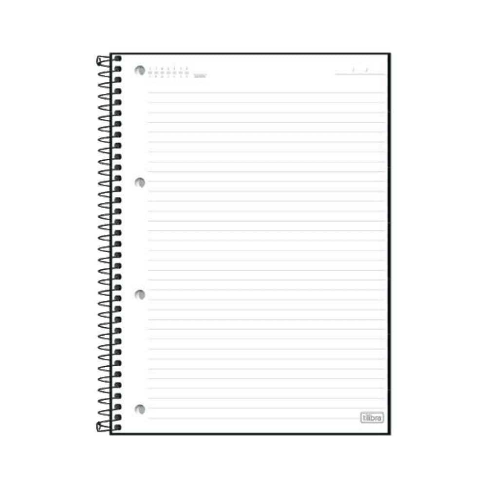 Caderno Executivo Espiral Capa Dura Universitário Organizer 80 Folhas Tilibra