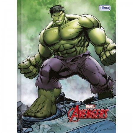 Caderno Universitário Brochura Capa Dura 96 Folhas Avengers 4 unidades Tilibra