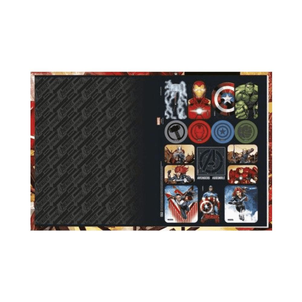 Caderno Universitário Brochura Capa Dura Avengers 96 Folhas Tilibra