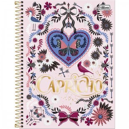 Caderno Universitário Capa Dura 96 Folhas Capricho 4 unidades Tilibra