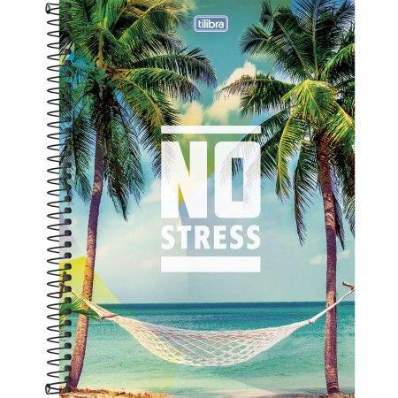Caderno Universitário Capa Dura 96 Folhas No Stress 4 unidades Tilibra