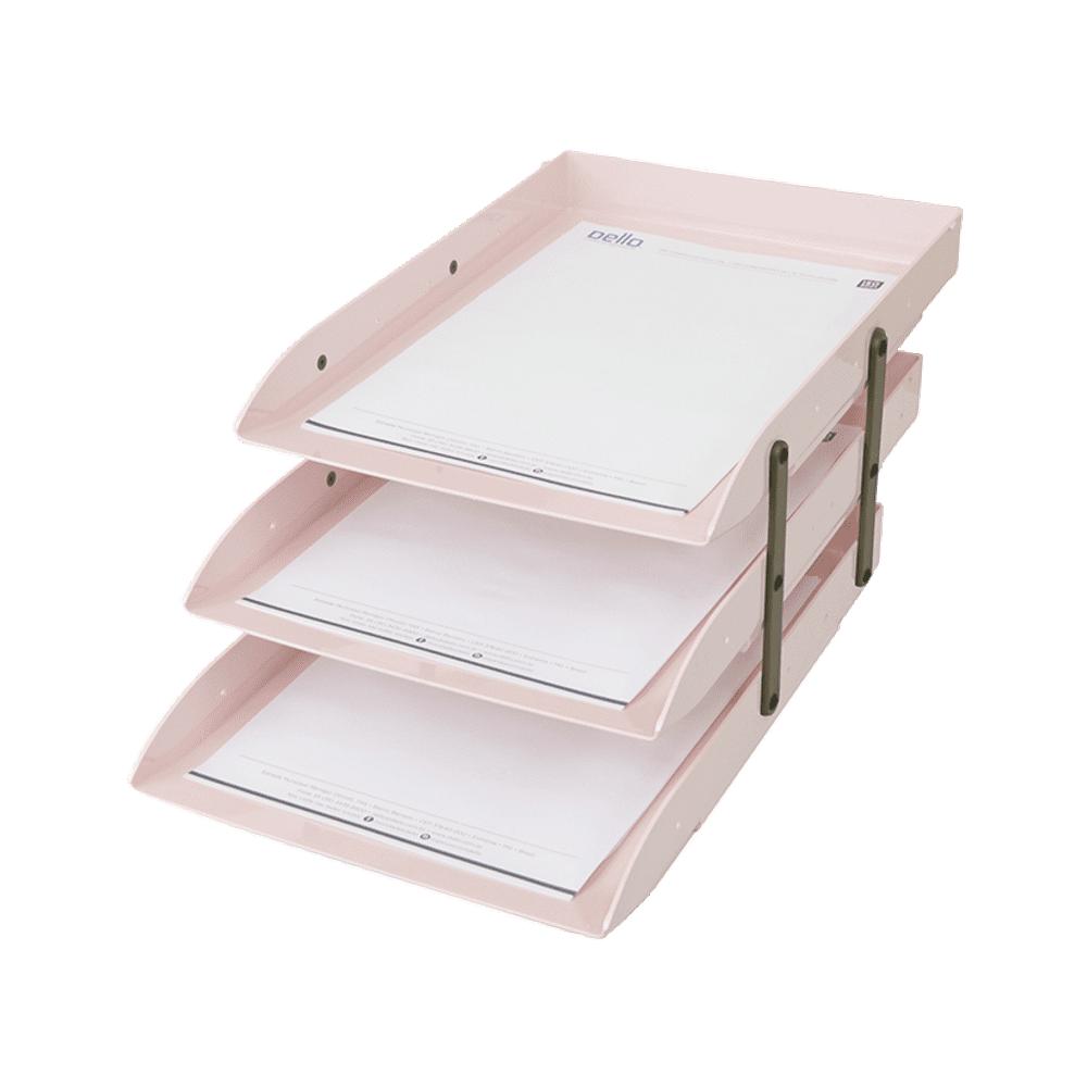 Caixa Correspondência Rosa Claro Articulável Tripla Dello