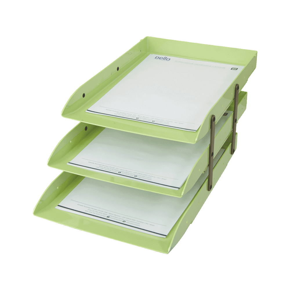 Caixa Correspondência Verde Pistache Articulável Tripla Dello