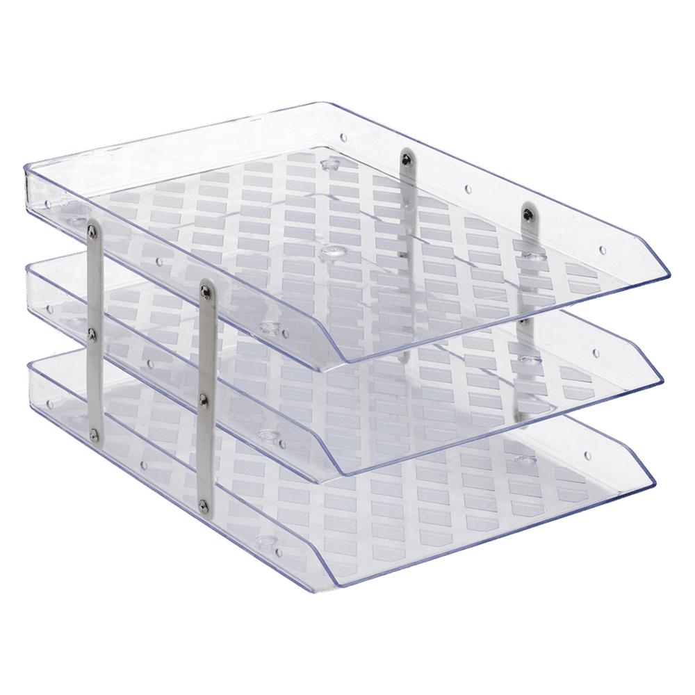 Caixa de Correspondência Tripla Fixa Cristal Waleu