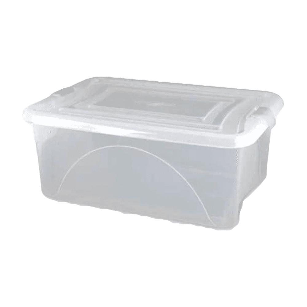 Caixa Organizadora com Tampa 12,5L Cristal Plasvale