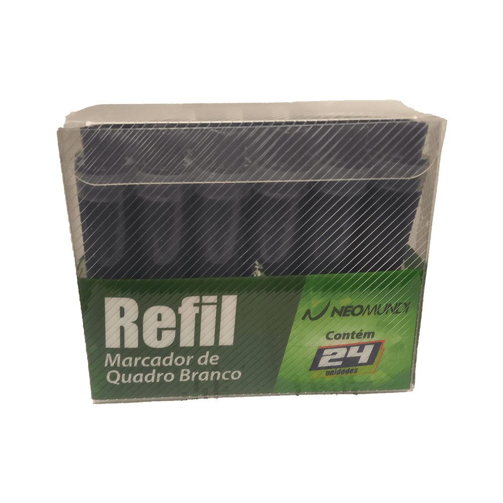 Caixa Refil Marcador Quadro Branco Preto 24 und NeoMundi