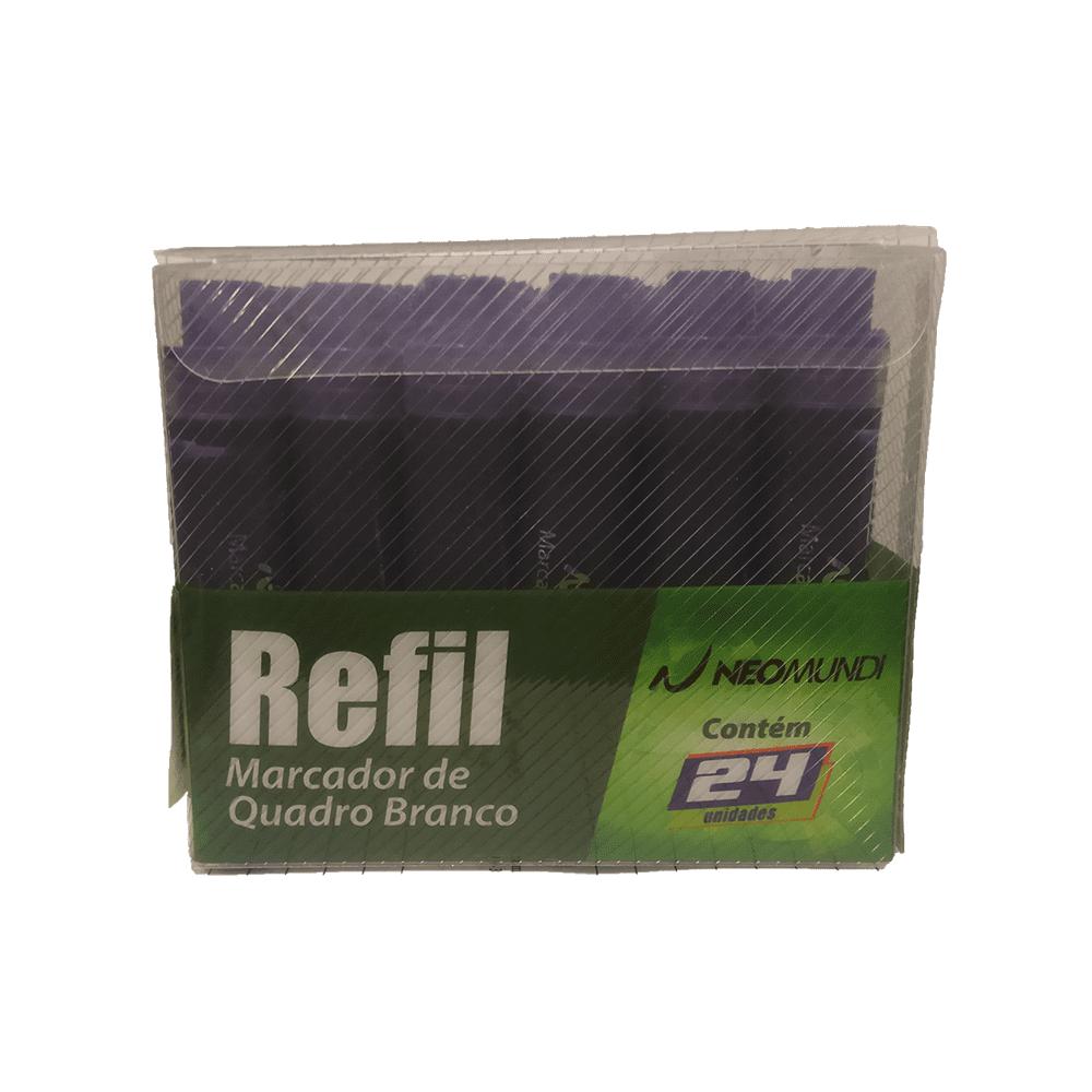 Caixa Refil Marcador Quadro Branco Violeta 24 und NeoMundi