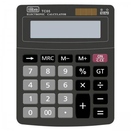 Calculadora de Mesa 12 Dígitos TC05 Preta Tilibra