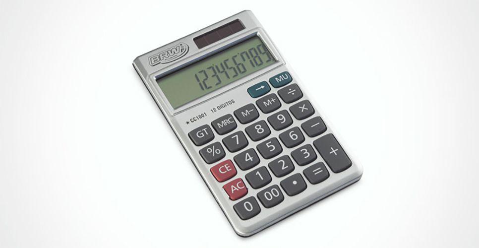 Calculadora Pequena 12 Dígitos CC1001 BRW