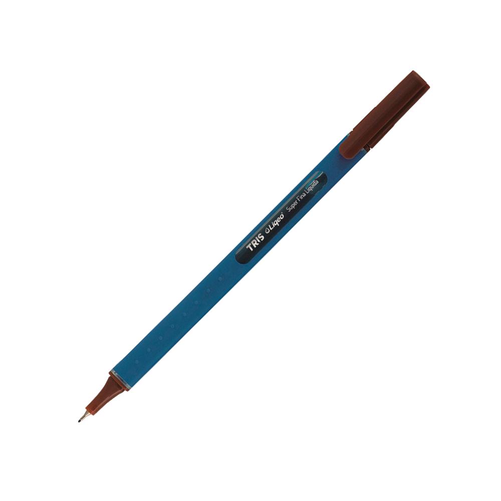 Caneta 0.4mm Marrom Liqeo Tris