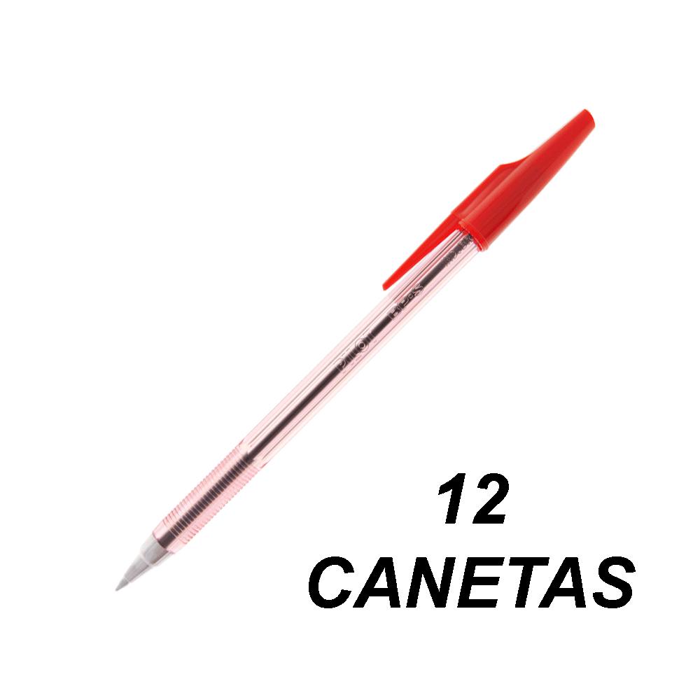 Caneta Esferográfica 0.7 mm Fina BP-S Vermelho 12 und Pilot