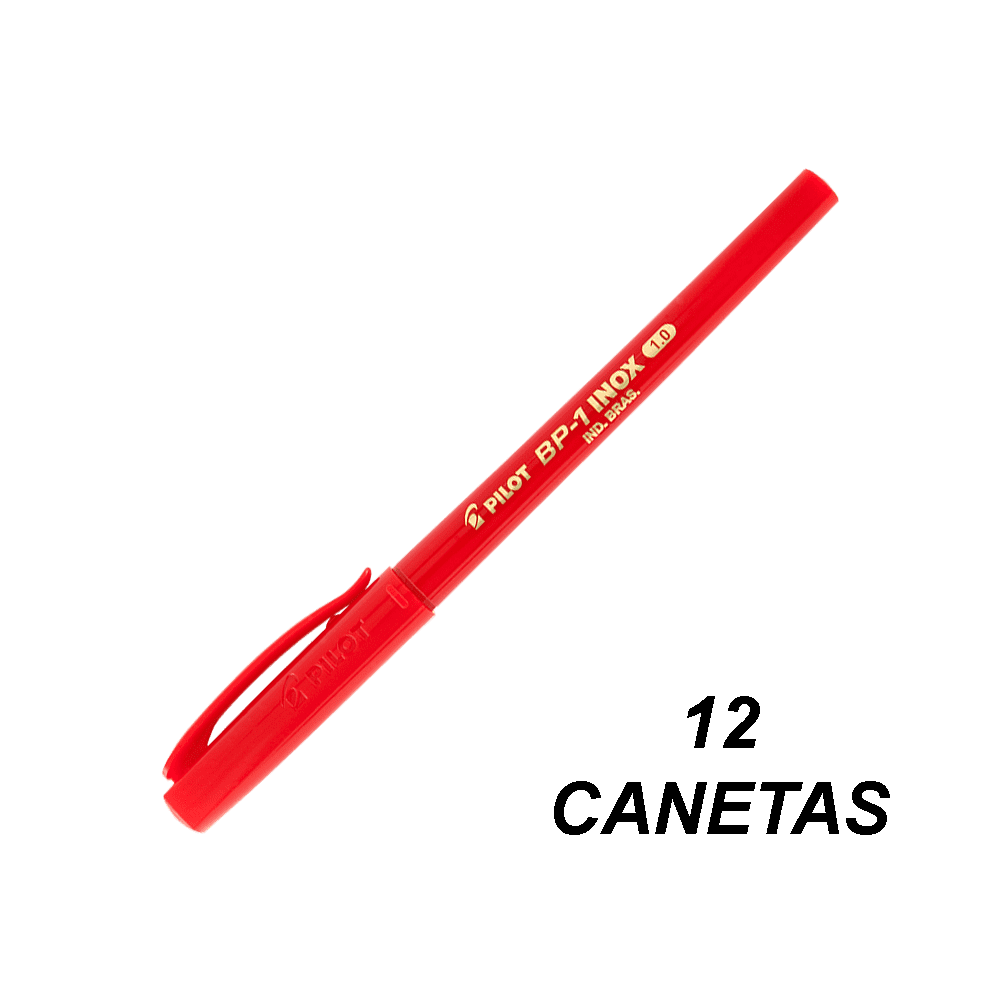 Caneta Esferográfica 1.0 mm BP-1 Vermelha 12 und Pilot