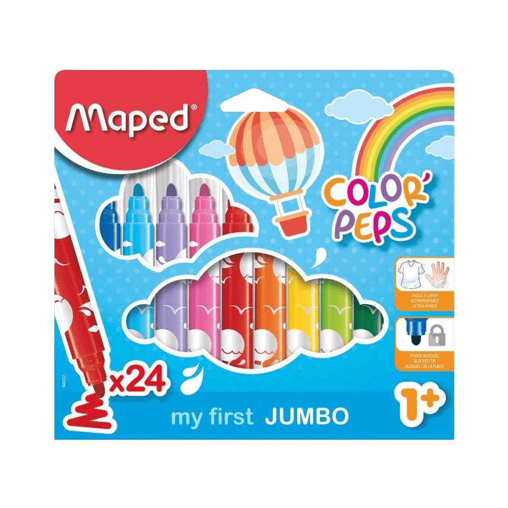 Caneta Hidrocor Color'Peps Jumbo 24 Cores Maped