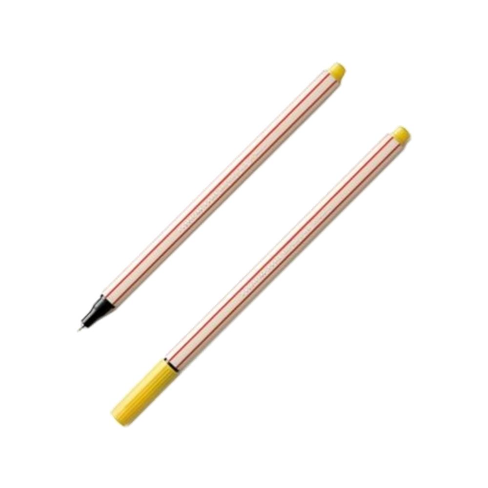 Caneta Microline 0.4mm Amarela Compactor