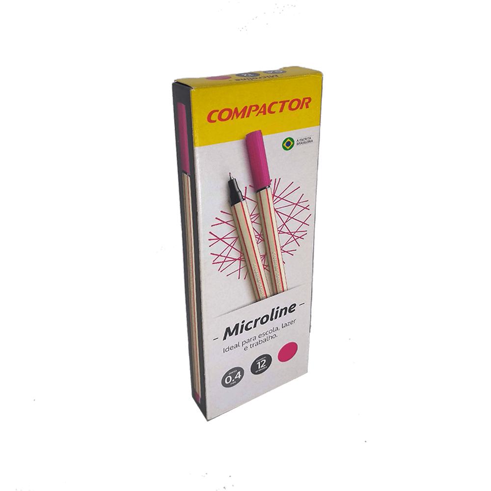Caneta Microline 0,4mm Rosa 12 und Compactor