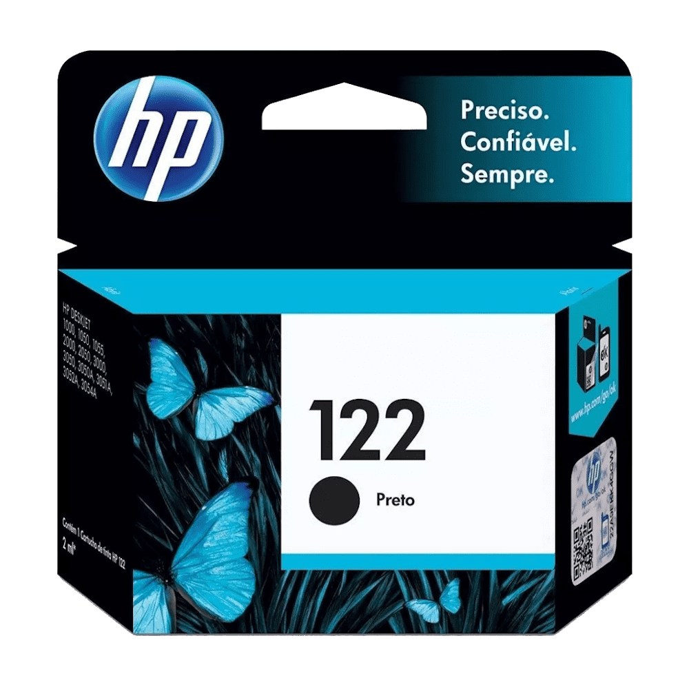 Cartucho de Tinta 122 Preto 2ml HP