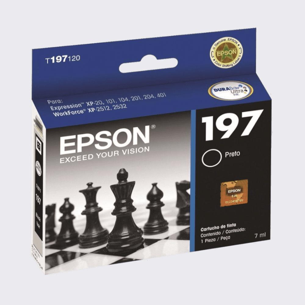 Cartucho de Tinta 197 Preto 8ml Epson
