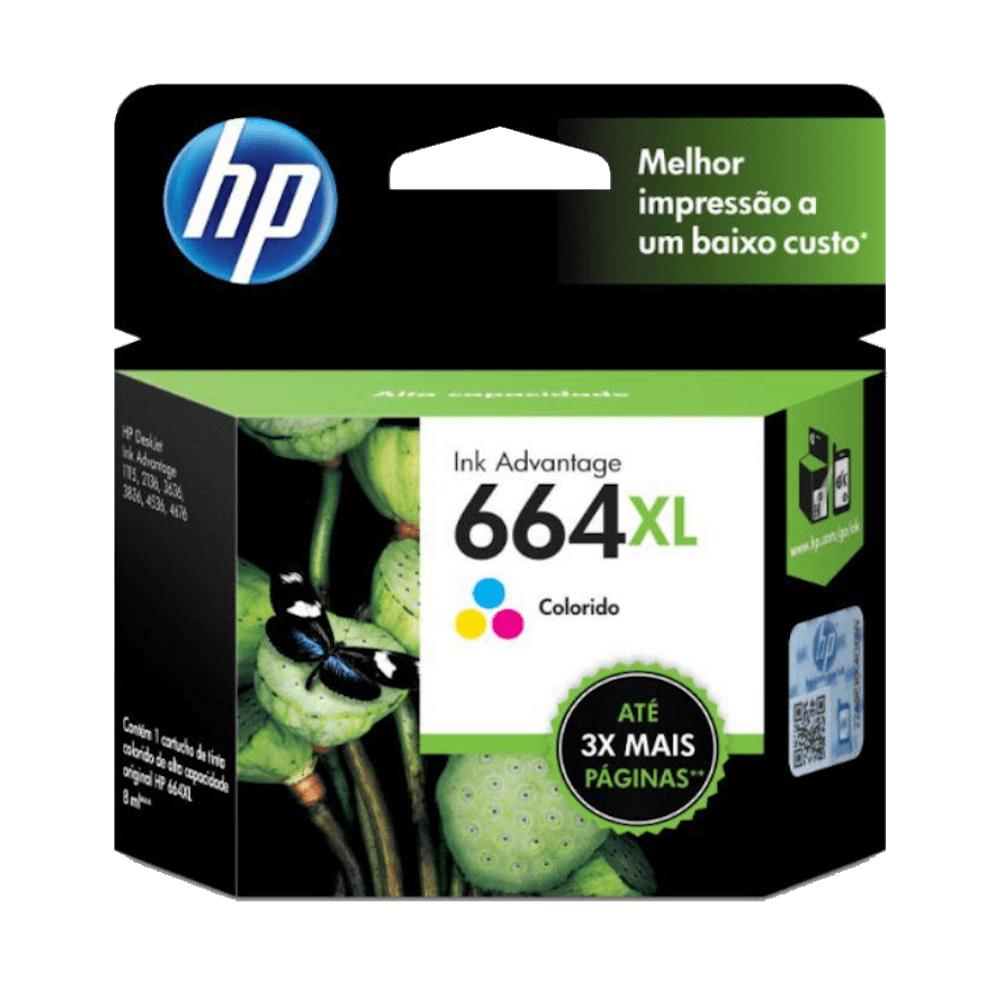 Cartucho de Tinta 664XL Colorido 8ml HP