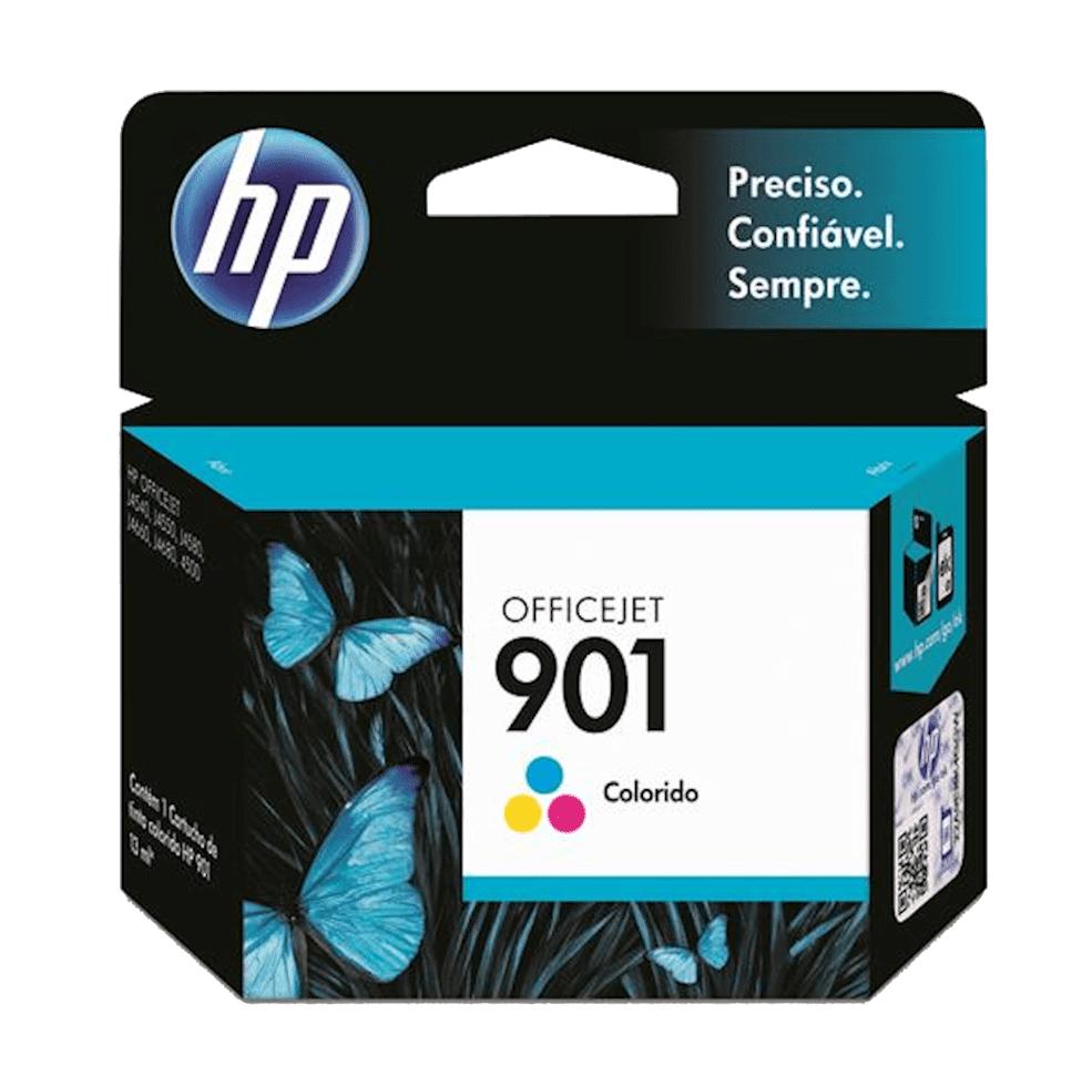 Cartucho de Tinta 901 Colorido 13ml HP