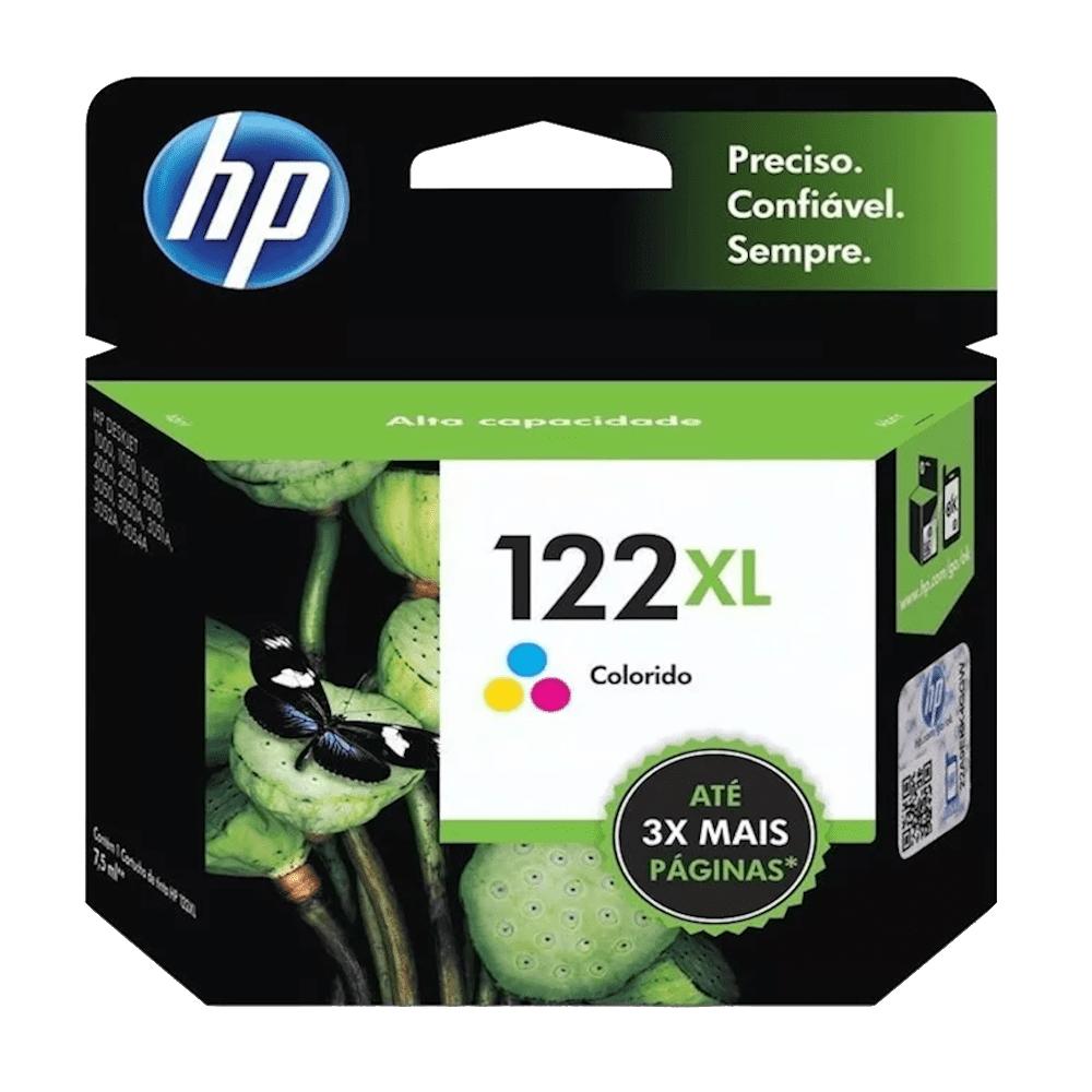 Cartucho de Tinta 122XL Colorido 7,5ml HP