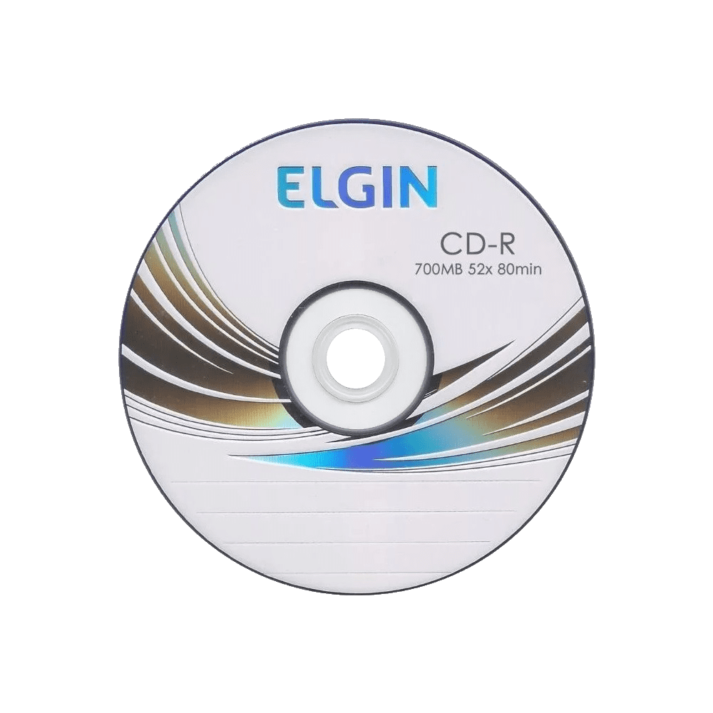 Mídia CD-R 700mb/80 min 52x Printable Elgin