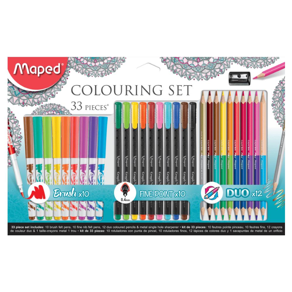 Conjunto Artístico Para Colorir 33 Peças Maped