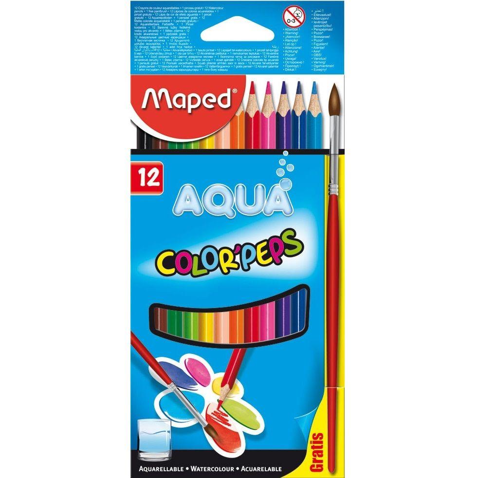 Lápis de Cor Color'Peps Aquarelável 12 Cores Maped