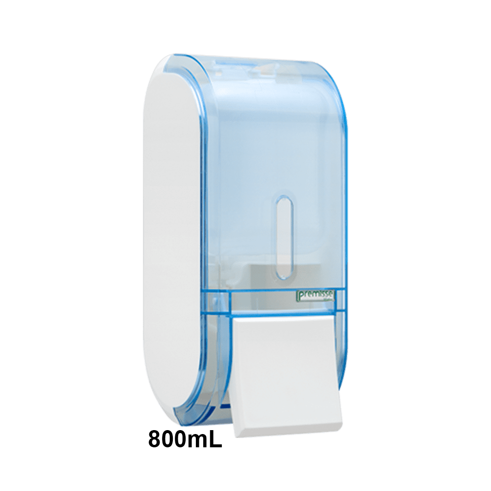 Dispenser de Sabonete com Reservatório 800mL Glass Azul Urban Premisse