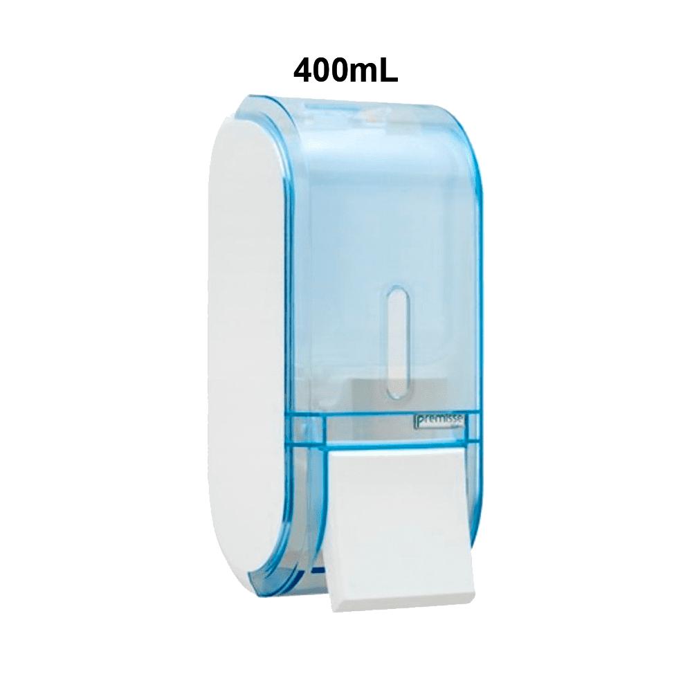 Dispenser Sabonete com Reservatório 400mL Glass Azul Urban Compacta Premisse