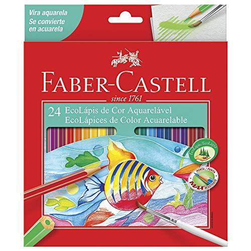 Ecolápis de Cor Aquarelável 24 Cores Faber Castell