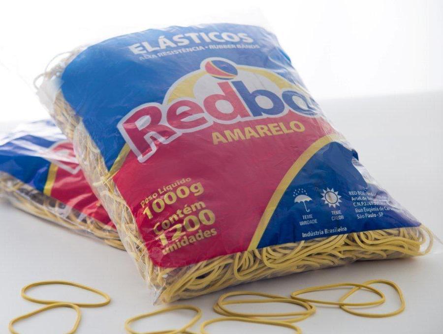 Elásticos de Borracha Nº18 Amarelo 1kg Redbor