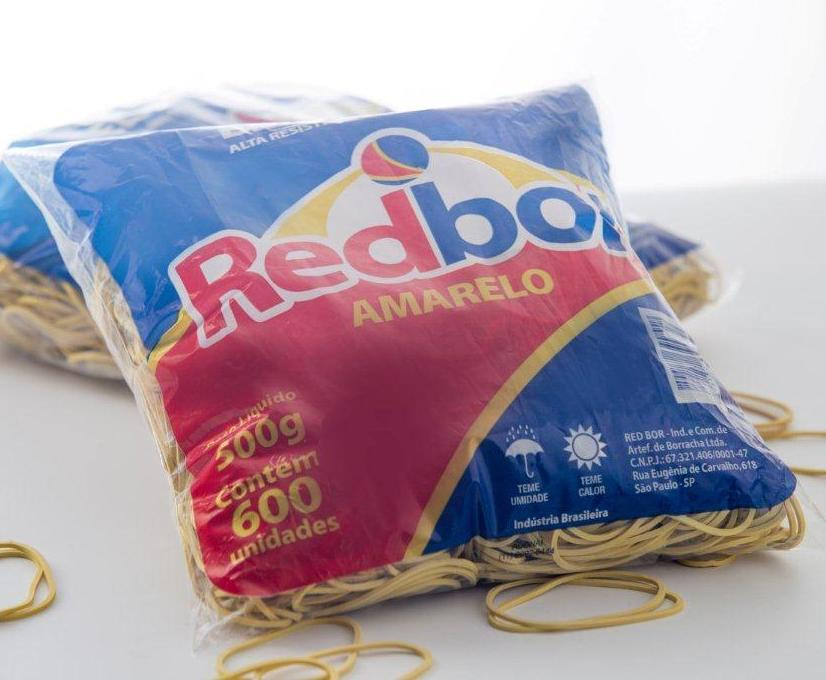 Elásticos de Borracha Nº18 Amarelo 500g Redbor