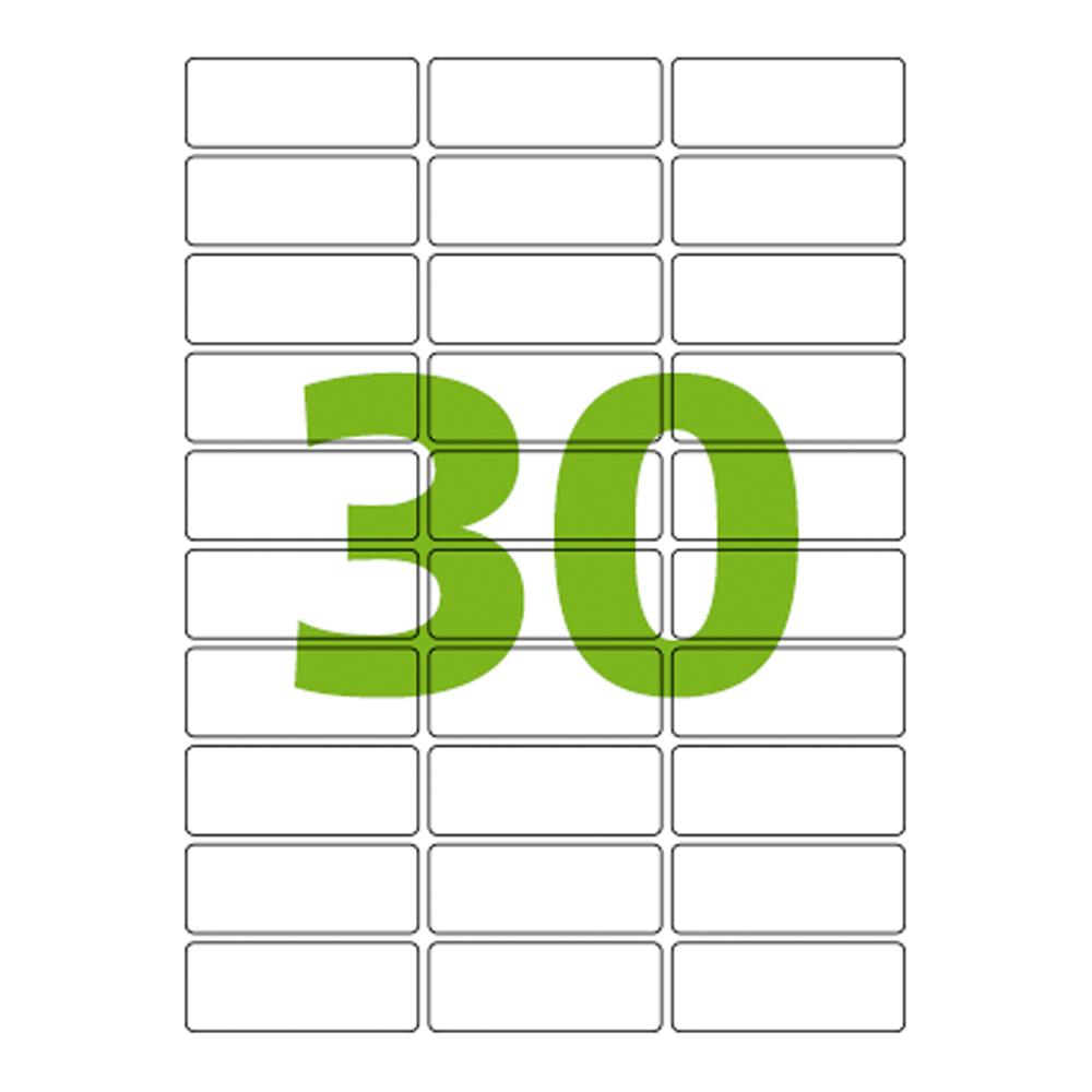 Etiqueta Carta 25,4mm x 66,7mm 25 Folhas 61280 Hardcopy