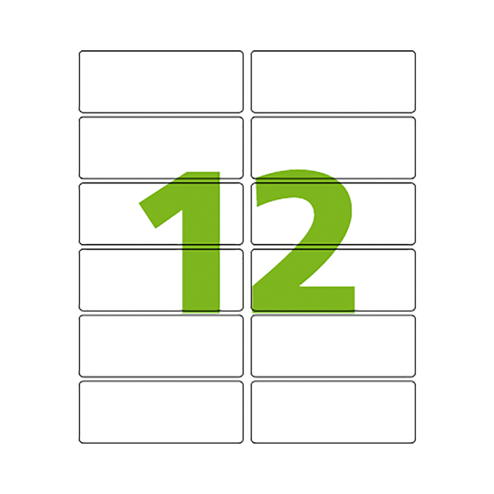 Etiqueta Carta 38,1mm x 101,6mm 25 Folhas CC297 Colacril