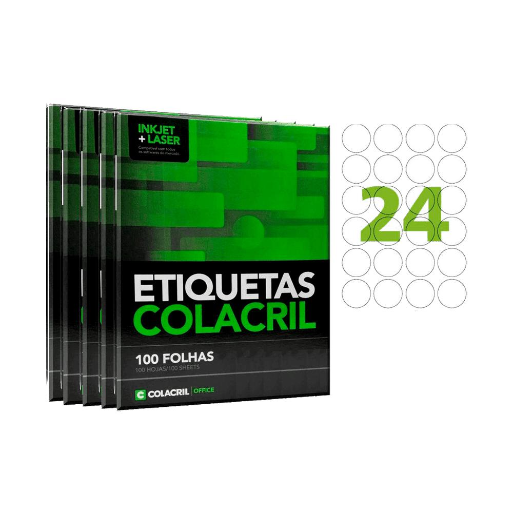 Etiqueta Carta Ø 42,33mm 500 folhas CC193 Colacril