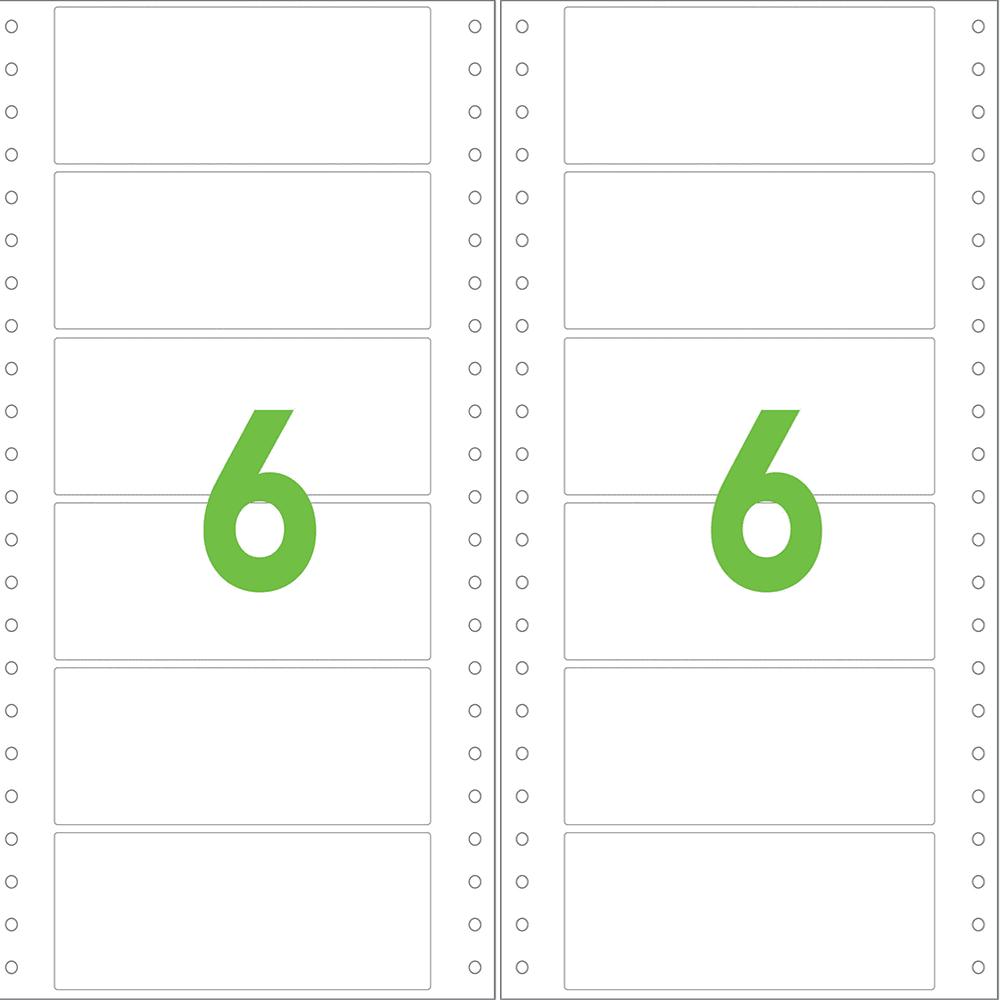 Etiqueta Contínua 89mm x 23,4mm 2 Colunas Colacril