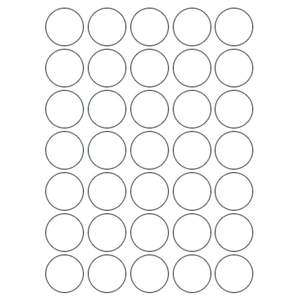 Etiqueta Multiuso Ø 13 mm 5 Folhas Transparente 6021TR Colacril