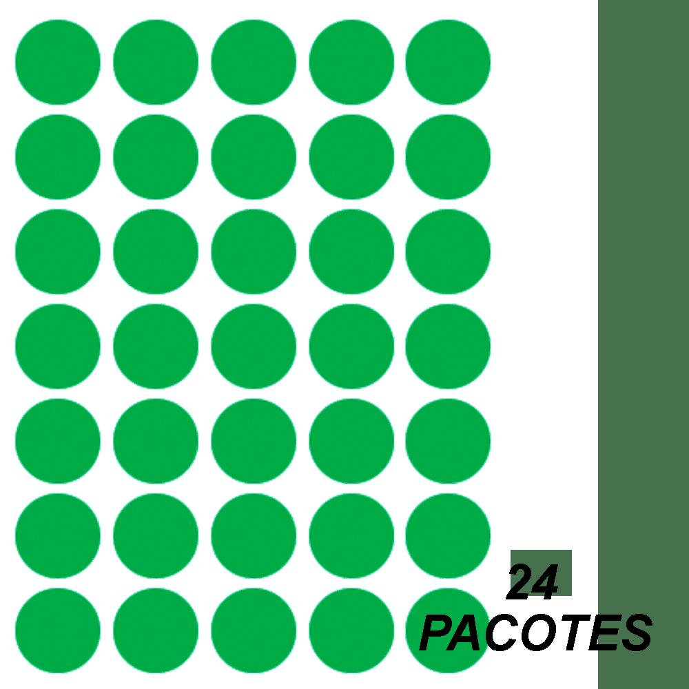 Etiqueta Multiuso Ø 19 mm 144 Folhas Verde 6001 Colacril