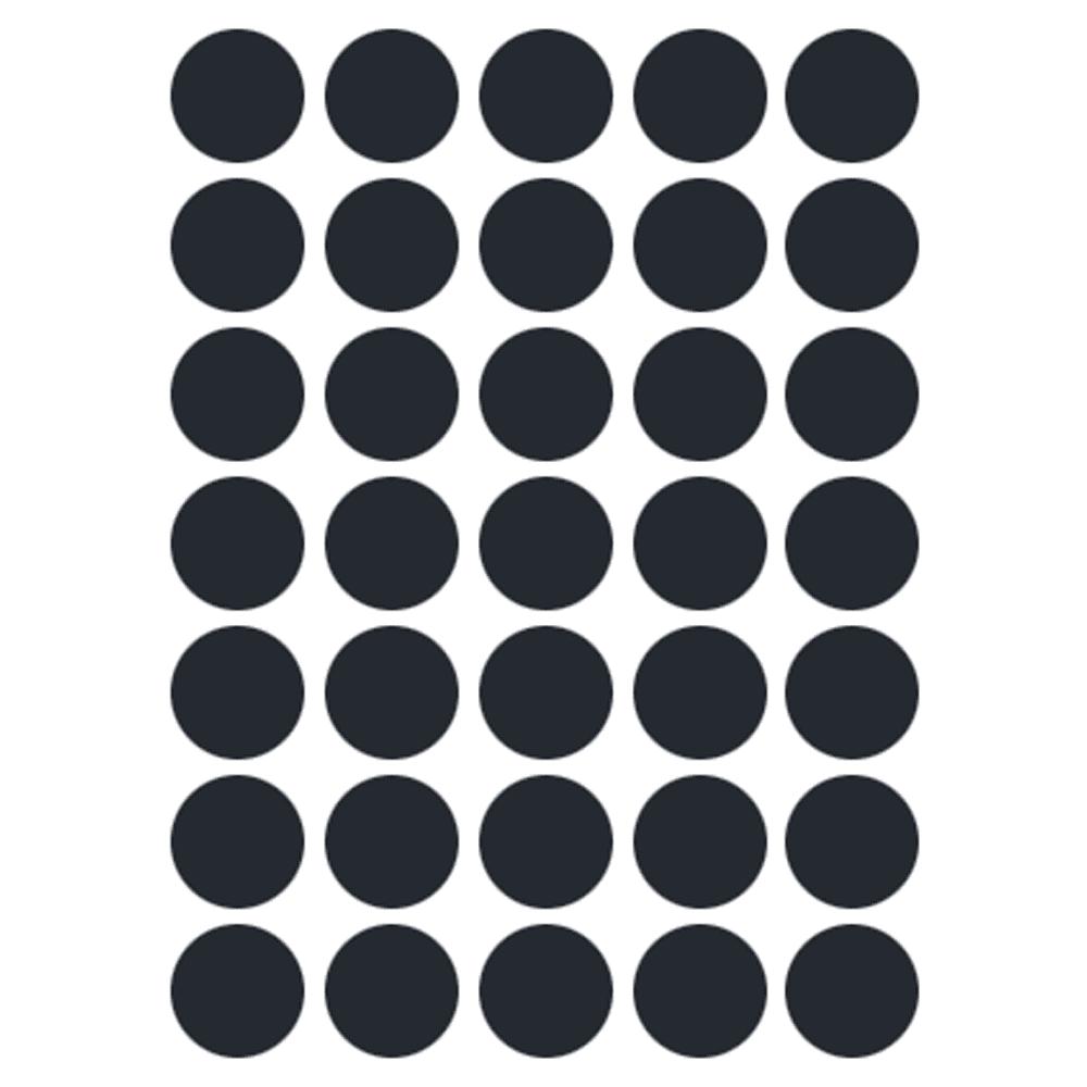 Etiqueta Multiuso Ø 19 mm 5 Folhas Preta 6001 Colacril